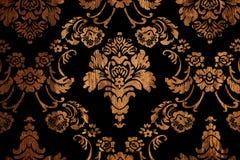 Орнамент предпосылки деревянный флористический Стоковые Изображения