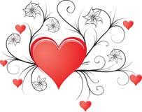 орнамент природы сердец Стоковые Фото