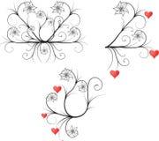 орнамент природы сердец Стоковые Фотографии RF