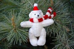 Орнамент плюшевого медвежонка рождества Стоковые Фотографии RF