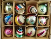 орнамент рождества коробки Стоковое фото RF