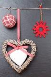 Орнамент рождества: шарики рождества Стоковые Фото