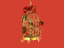 орнамент рождества birdcage Стоковые Изображения