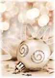 Орнамент рождественской елки, украшение bauble Стоковое Изображение