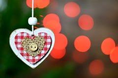 Орнамент рождества и света рождества Стоковая Фотография