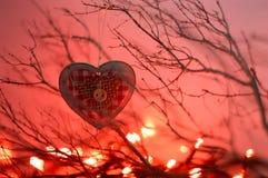 Орнамент рождества сердца форменный Стоковая Фотография RF
