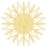 Орнамент рождественской елки звезды соломы бесплатная иллюстрация
