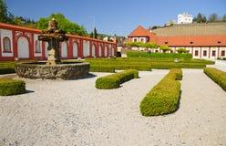 орнамент сада фонтана Стоковые Изображения RF