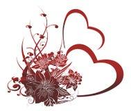 орнамент сердец Стоковые Изображения