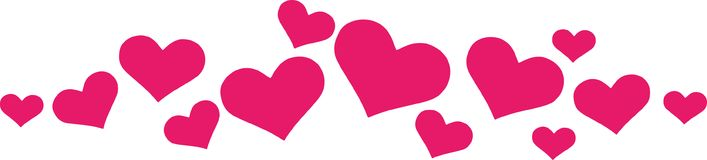 Орнамент сердца для карточек бесплатная иллюстрация