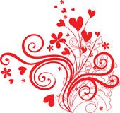 орнамент сердца формирует Валентайн Стоковые Фото