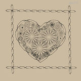 Орнамент сердца валентинки Стоковое Изображение