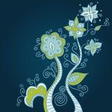 орнамент сини предпосылки Стоковые Фото