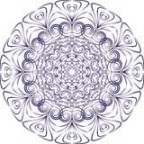 Орнамент сини плиты Стоковое Изображение