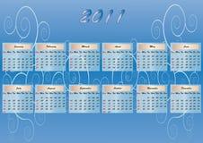 орнамент суббота воскресенье 2011 календара Стоковые Фотографии RF