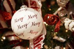 Орнамент с Рождеством Христовым рождественской елки Стоковые Фото