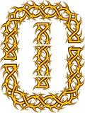 Орнамент с терниями и колючками Стоковое Изображение