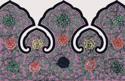 Орнамент традиционного китайския Grunge флористический Стоковое фото RF