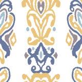 Орнамент фольклора картины безшовный Племенная этническая текстура вектора Striped щетка в ацтекском стиле Диаграмма племенная вы иллюстрация штока