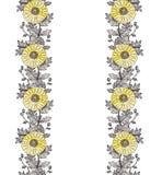 Орнамент 1 хризантемы по вертикали стоковое фото rf