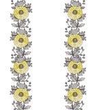 Орнамент 2 хризантемы по вертикали стоковые фотографии rf