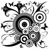 орнамент цветка бабочки искусства Стоковое Изображение RF