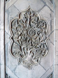 Орнамент цветка на керамической плитке Стоковые Изображения
