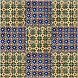 Орнамент цветка предпосылки Керамическая плитка, музей Azulejo, Lisbo Стоковое Изображение RF