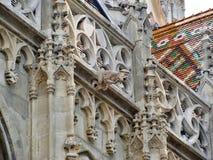 Орнамент церков в замке Buda в Венгрии, Будапеште Стоковое Изображение