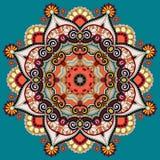 Орнамент шнурка круга, круглое орнаментальное геометрическое Стоковая Фотография