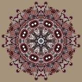 Орнамент шнурка круга, круглое орнаментальное геометрическое Стоковое фото RF