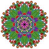 Орнамент шнурка круга, круглое орнаментальное геометрическое Стоковая Фотография RF