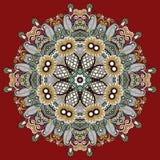 Орнамент шнурка круга, круглое орнаментальное геометрическое Стоковые Фотографии RF