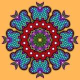 Орнамент шнурка круга, круглое орнаментальное геометрическое Стоковое Изображение RF