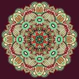 Орнамент шнурка круга, круглое орнаментальное геометрическое Стоковое Изображение