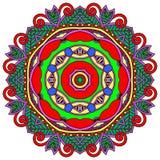 Орнамент шнурка круга, круглое орнаментальное геометрическое Стоковые Изображения