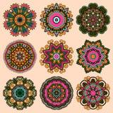 Орнамент шнурка круга, круглое орнаментальное геометрическое Стоковые Фото