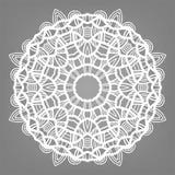 Орнамент шнурка рождества декоративный, снежинка Стоковые Фото