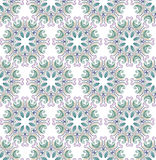 Орнамент штофа круглый флористический Стоковое Фото