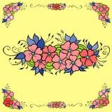 орнамент элемента флористический Чертеж Doodle Стоковая Фотография RF