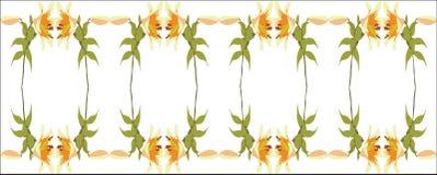 орнамент 06 цветов Стоковое Изображение