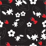 орнамент 10 цветов безшовный Стоковая Фотография