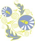 орнамент 18 цветов иллюстрация вектора