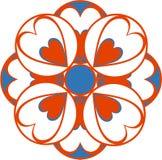 орнамент 23 цветов иллюстрация вектора