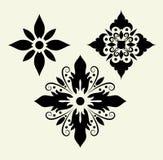 орнамент 5 декоративный цветков Стоковая Фотография RF