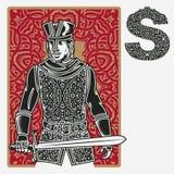 Орнамент Celtic карточки Джека иллюстрация штока