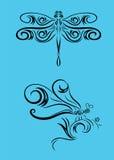Орнамент Dragonfly Стоковые Фотографии RF