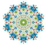 Орнамент ethno круга также вектор иллюстрации притяжки corel Стоковая Фотография RF