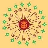 орнамент ganesha индийский родной Стоковая Фотография RF