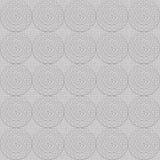 Орнамент Greyscale кругов безшовный Стоковые Изображения